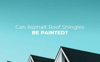 Can asphalt roof shingles be painted?